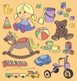Doodle toys vector image