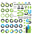 Set of infographic elements icons and statistics vector image vector image