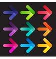 Abstract Arrow Icon Template vector image