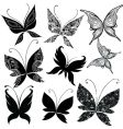 butterfly design elements vector image vector image