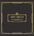 art deco border and frame vector image