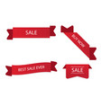 banner set of sale ribbon tag image vector image