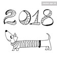 dogwith 2018 sign vector image
