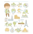 Geography and travel teacher geographer Doodle vector image