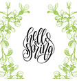 hello spring lettering typography banner vector image