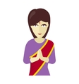 Indians Woman in Traditional Dress vector image