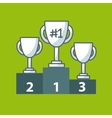 podium places and trophy vector image