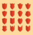 Shield color icon set vector image