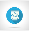 star performance flat round icon vector image