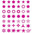 Star shape set vector image