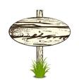 Wood Sign Board vector image