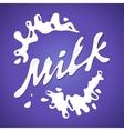 Milk label Splash and blot design shape vector image
