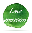 environmental eco label vector image