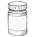 bottle of medicine vector image