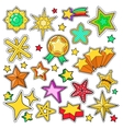 Stars Golden Decorative Elements for Stickers vector image