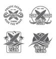 set of surfing emblems vector image vector image