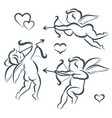 valentines day cupid collection vector image