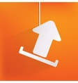 Upload web icon vector image