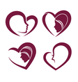 beauty and hearts vector image