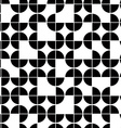 Seamless geometric pattern with monochrome vector image vector image