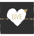 valentines day and wedding greeting card and vector image vector image