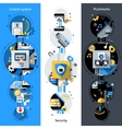 Smart House Banners vector image