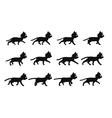 Black Cat Walking Sprite vector image vector image