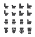 water closet icon set vector image
