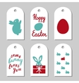 Collection of gift tags decorated with bunnies vector image