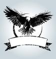 Vintage label with flying eagle vector image