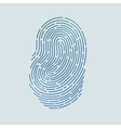 Blue touch fingerprint id app with shadows vector image