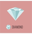 Brilliant flat icon with top view Rich luxury vector image