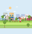 citys natural parks flat design style vector image