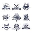 Steak House Emblems Set vector image