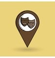theatrical mask pin design vector image