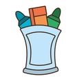 drawing cup with various colores markers school vector image