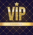 vip golden letters with glitter on abstract vector image vector image