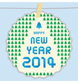 Happy new year 2014 card43 vector image