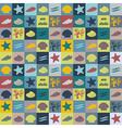 seashell flat wallpaper vector image vector image