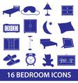 Bedroom icon set eps10 vector image