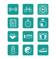 Icons set sports and fitness vector image vector image