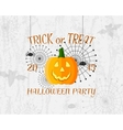 Trick or Treat banner Happy Halloween Poster vector image