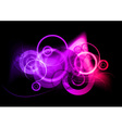 purple neon light vector image vector image