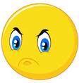 Cartoon emoticon with angry face vector image vector image