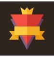 Modern flat design badge icon vector image