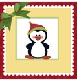 Blank template for Christmas greetings card vector image
