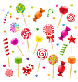 big candy set vector image