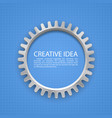 engineering gear on paper vector image