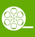 film icon green vector image