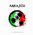 flag of mexico as an abstract soccer ball vector image
